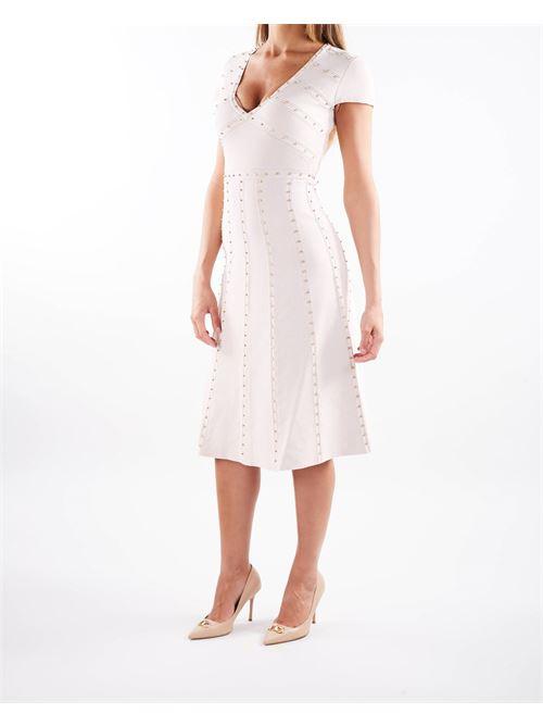 Mini abito con borchiette dorate Elisabetta Franchi ELISABETTA FRANCHI | Abito | AM17B16E2686
