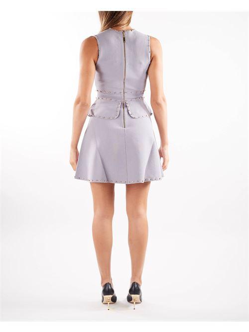 Mini abito smanicato con borchiette dorate Elisabetta Franchi ELISABETTA FRANCHI | Abito | AM19B16E2430