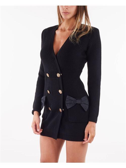 Robe manteau in maglia con fiocchi Elisabetta Franchi ELISABETTA FRANCHI | Abito | AM29S16E2110