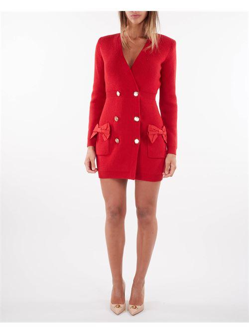 Robe manteau in maglia con fiocchi Elisabetta Franchi ELISABETTA FRANCHI | Abito | AM29S16E2D97