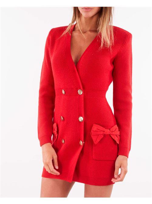 Robe manteau in maglia con fiocchi Elisabetta Franchi ELISABETTA FRANCHI   Abito   AM29S16E2D97