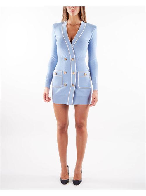 Robe manteau in maglia piping a contrasto Elisabetta Franchi ELISABETTA FRANCHI | Abito | AM35S16E2AB5