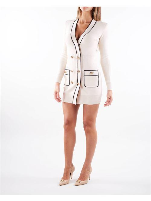 Robe manteau in maglia piping a contrasto Elisabetta Franchi ELISABETTA FRANCHI | Abito | AM35S16E2E84