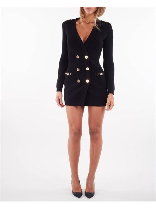 Abito cappotto in maglia con accessori dorati Elisabetta Franchi ELISABETTA FRANCHI | Abito | AM41S16E2110