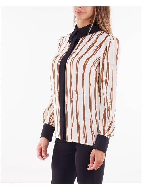 Camicia stampa belt-logo a contrasto Elisabetta Franchi ELISABETTA FRANCHI | Camicia | CA29216E2E84