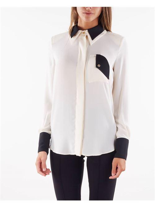 Camicia bicolore Elisabetta Franchi ELISABETTA FRANCHI | Camicia | CA30016E2E84