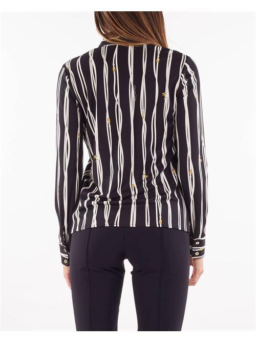 Camicia con collo alla coreana con stampa belt logo Elisabetta Franchi ELISABETTA FRANCHI   Camicia   CA30716E2685
