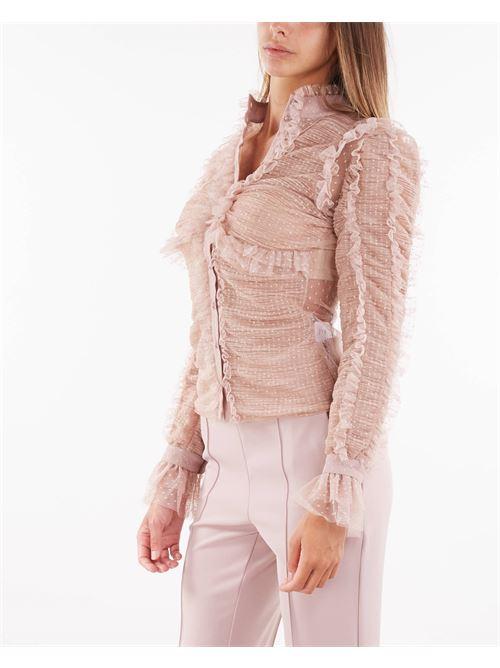 Camicia full rouches in tulle Elisabetta Franchi ELISABETTA FRANCHI   Camicia   CA32616E2Q83
