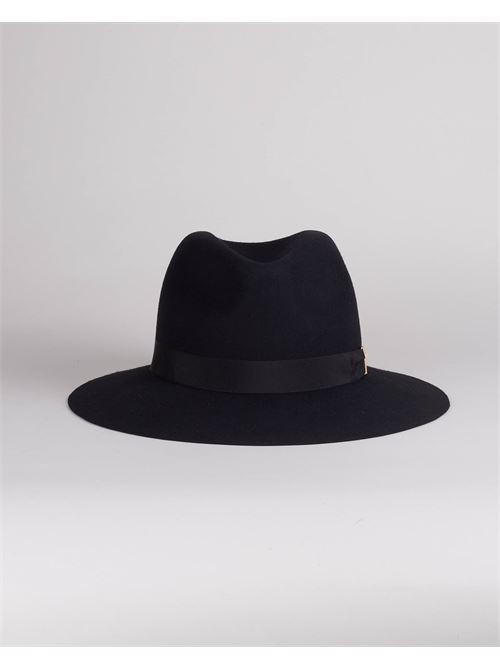 Cappello in feltro con morsetto logo Elisabetta Franchi ELISABETTA FRANCHI | Cappello | CL01C16E2110