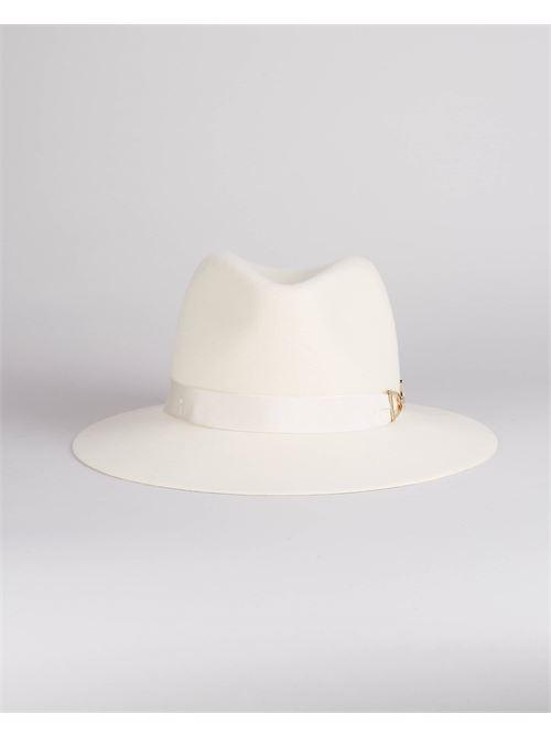 Cappello in feltro con morsetto logo Elisabetta Franchi ELISABETTA FRANCHI | Cappello | CL01C16E2193