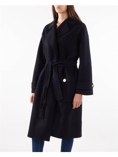 Cappotto in panno a vestaglia Elisabetta Franchi ELISABETTA FRANCHI   Cappotto   CP34W16E2110