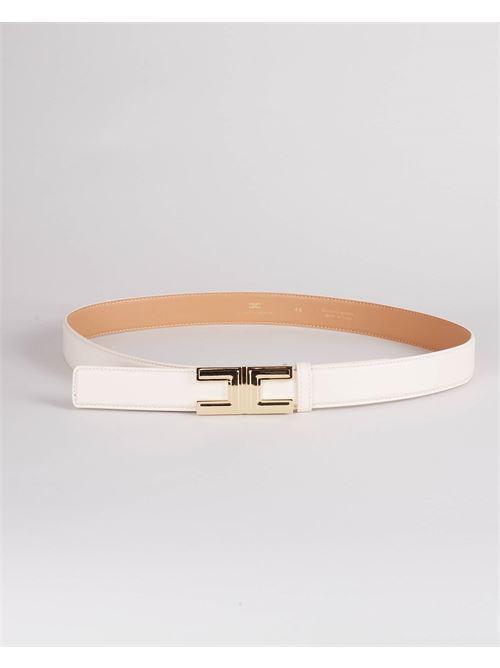 Cintura con logo gold Elisabetta Franchi ELISABETTA FRANCHI | Cintura | CT12S16E2193