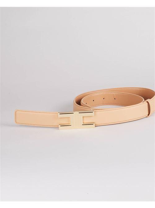 Cintura con logo gold Elisabetta Franchi ELISABETTA FRANCHI | Cintura | CT12S16E2470