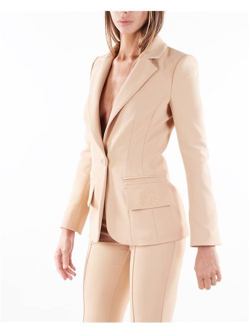 Giacca con ricamo effetto stemma nobiliare Elisabetta Franchi ELISABETTA FRANCHI   Giacca   GI97216E2043