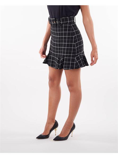 Minigonna con stampa check bicolore Elisabetta Franchi ELISABETTA FRANCHI | Gonna | GO47116E2110