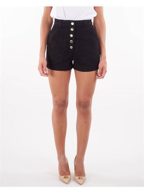 Shorts in denim con bottoni oro gold Elisabetta Franchi ELISABETTA FRANCHI | Shorts | HJ14D16E2110