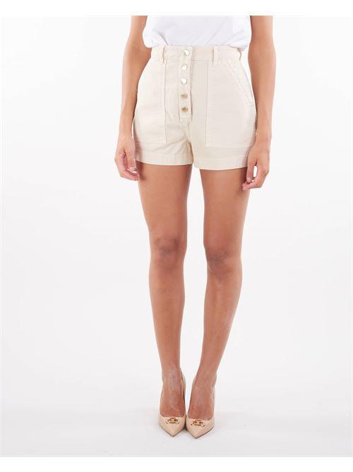 Shorts in denim con bottoni oro gold Elisabetta Franchi ELISABETTA FRANCHI | Shorts | HJ14D16E2193