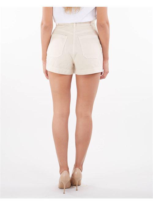 Shorts in denim con bottoni oro gold Elisabetta Franchi ELISABETTA FRANCHI   Shorts   HJ14D16E2193