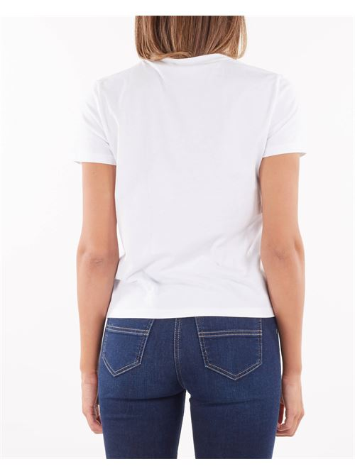 T-shirt girocollo con morsetti oro Elisabetta Franchi ELISABETTA FRANCHI | T-shirt | MA20016E2270