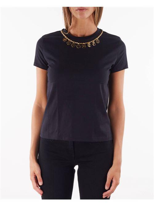 T-shirt con charm removibile Elisabetta Franchi ELISABETTA FRANCHI | T-shirt | MA20316E2110