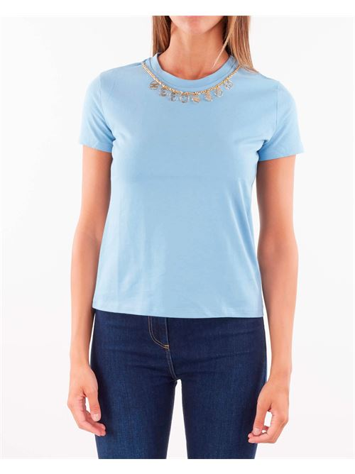 T-shirt con charm removibile Elisabetta Franchi ELISABETTA FRANCHI | T-shirt | MA20316E2Q80