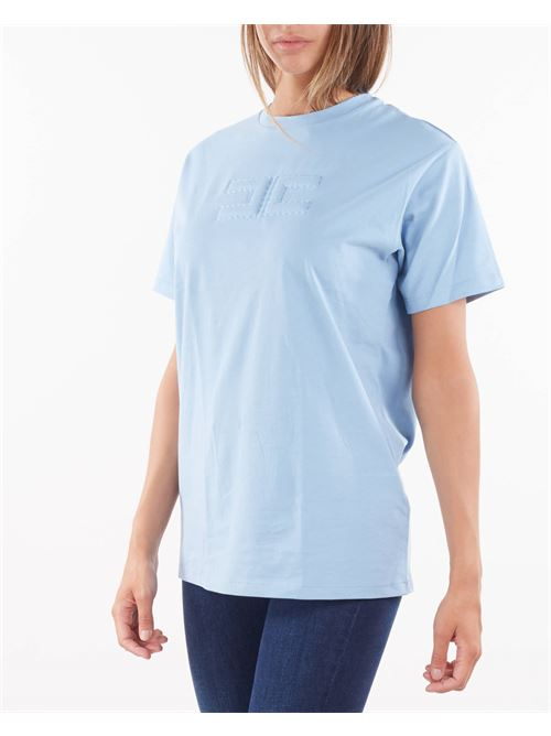 T-shirt con logo embossed Elisabetta Franchi ELISABETTA FRANCHI | T-shirt | MA20416E2Q80