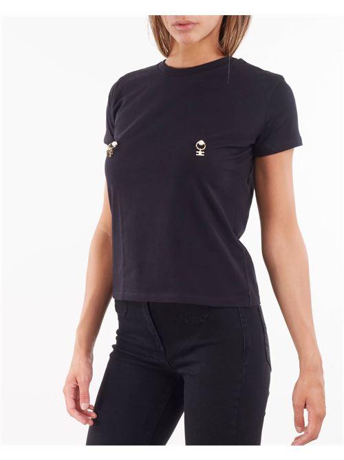 T-shirt con applicazione piercing Elisabetta Franchi ELISABETTA FRANCHI | T-shirt | MA20616E2110