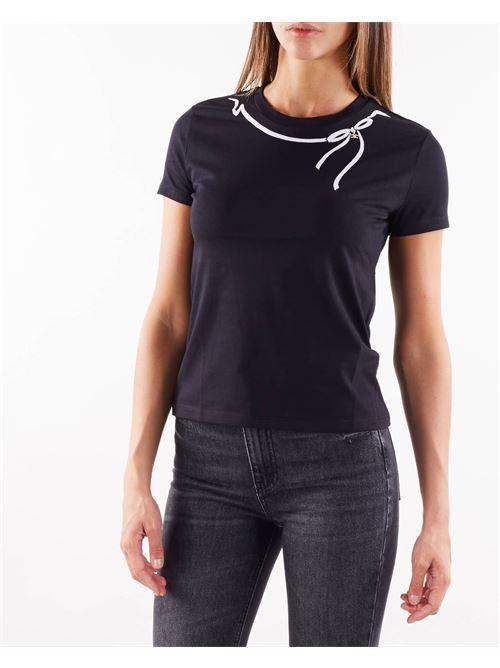 T-shirt con fiocco e charm Elisabetta Franchi ELISABETTA FRANCHI | T-shirt | MA20916E2685