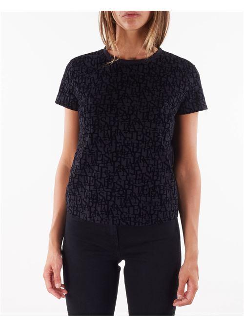 T-shirt girocollo con stampa lettering Elisabetta Franchi ELISABETTA FRANCHI | T-shirt | MA21216E2110