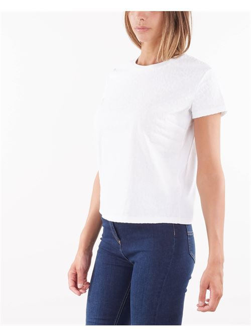 T-shirt girocollo con stampa lettering Elisabetta Franchi ELISABETTA FRANCHI | T-shirt | MA21216E2270