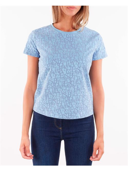 T-shirt girocollo con stampa lettering Elisabetta Franchi ELISABETTA FRANCHI | T-shirt | MA21216E2Q80