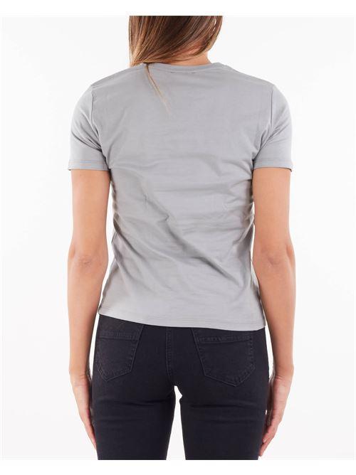T-shirt con oblò oro chiaro Elisabetta Franchi ELISABETTA FRANCHI | T-shirt | MA26N16E2044