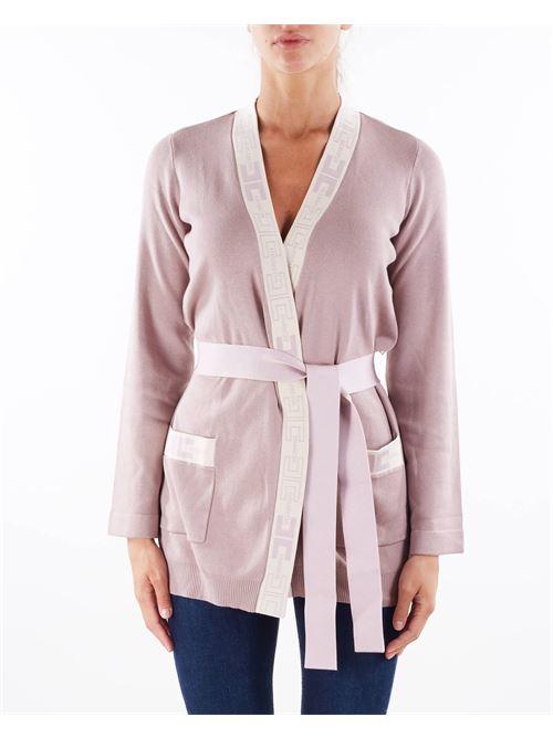 Cardigan stile vestaglia con logo Elisabetta Franchi ELISABETTA FRANCHI | Maglia | MK53S16E2Q93