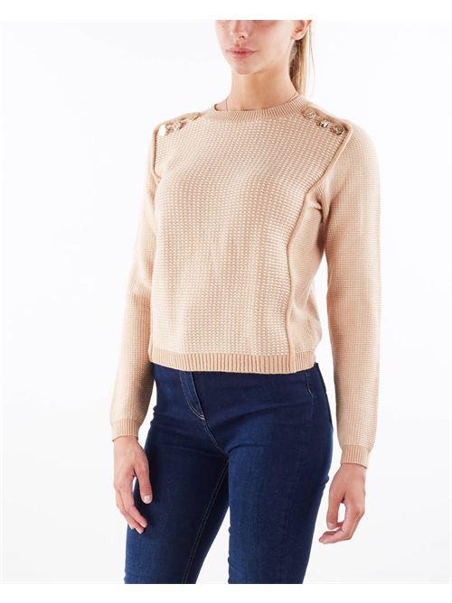 Maglia in misto lana a coste strette Elisabetta Franchi ELISABETTA FRANCHI | Maglia | MK66S16E2B01