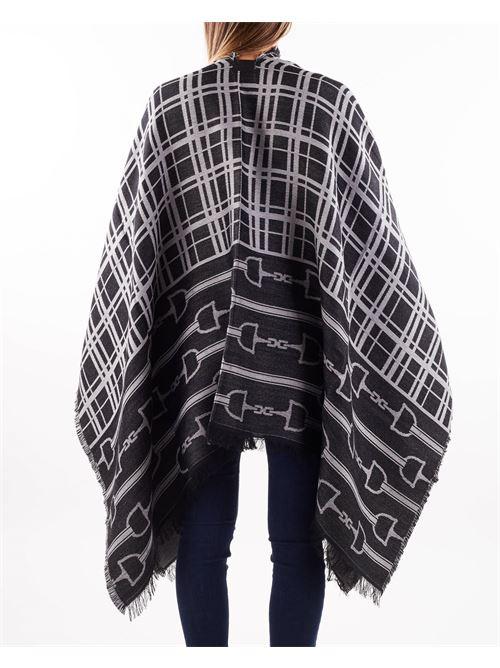 Mantella jaquard morsetto logo e tartan Elisabetta Franchi ELISABETTA FRANCHI   Mantella   MT02F16E2AD7