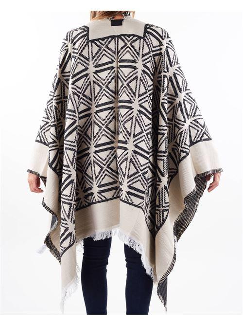 Mantella jaquard disegno kilim Elisabetta Franchi ELISABETTA FRANCHI | Mantella | MT03F16E2685