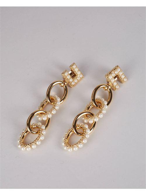 Orecchini pendenti con maxi perle Elisabetta Franchi ELISABETTA FRANCHI | Orecchini | OR05B16E2U95