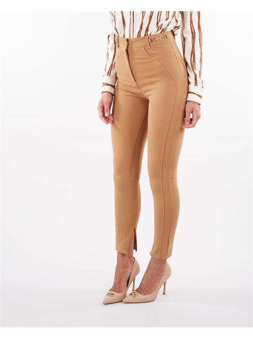 Pantaloni skinny stile equestre con morsetti dorati Elisabetta Franchi ELISABETTA FRANCHI   Pantalone   PA01116E2368