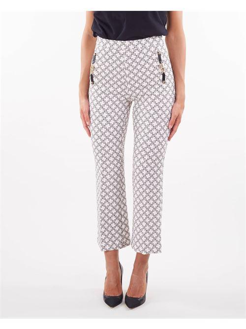 Pantaloni a zampa con stampa micro lucchetti Elisabetta Franchi ELISABETTA FRANCHI   Pantalone   PA37716E2E84