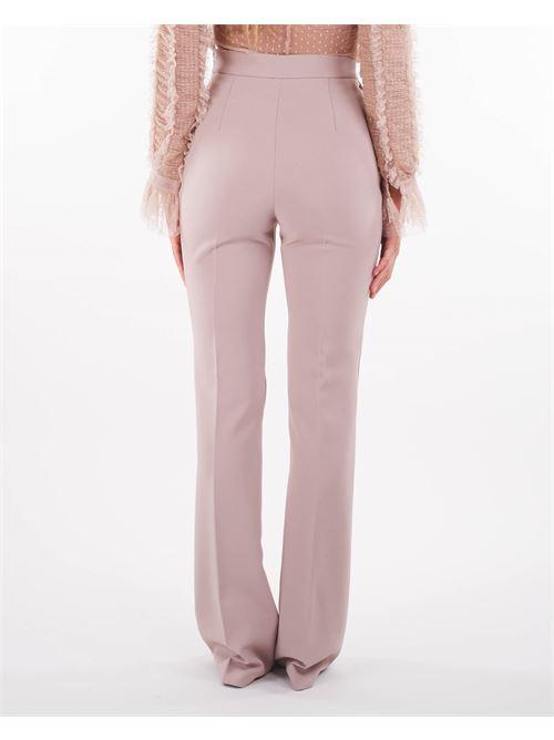 Pantalone a zampa con logo Elisabetta Franchi ELISABETTA FRANCHI | Pantalone | PA38516E2Q83
