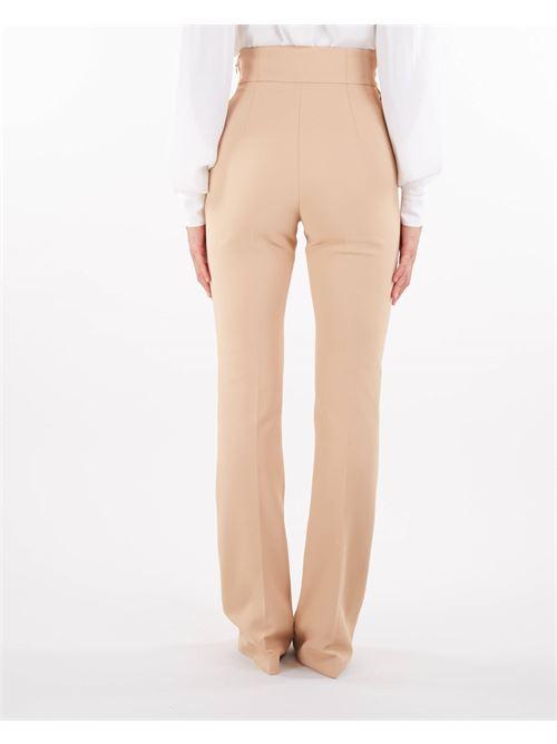 Pantaloni a vita alta con ricamo stemma Elisabetta Franchi ELISABETTA FRANCHI   Pantalone   PA38816E2043