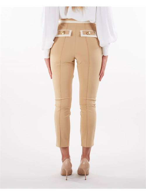 Pantaloni bicolore di Elisabetta Franchi ELISABETTA FRANCHI | Pantalone | PA38916E2Z60