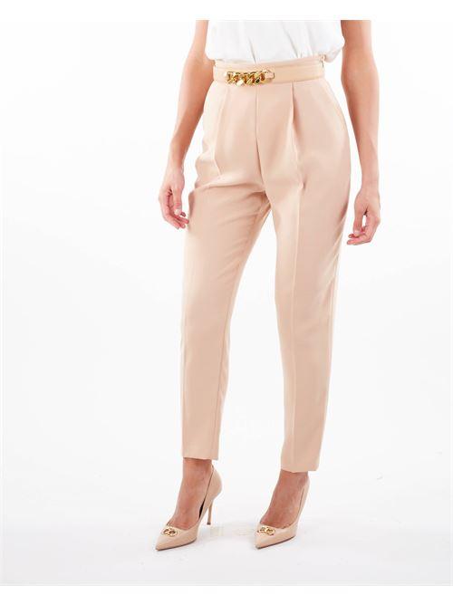 Pantaloni a sigaretta con accessorio cintura Elisabetta Franchi ELISABETTA FRANCHI | Pantalone | PA39116E2043