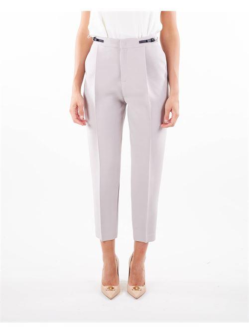 Pantalone con cinturino e dettaglio fibbia Elisabetta Franchi ELISABETTA FRANCHI | Pantalone | PA39418E2430
