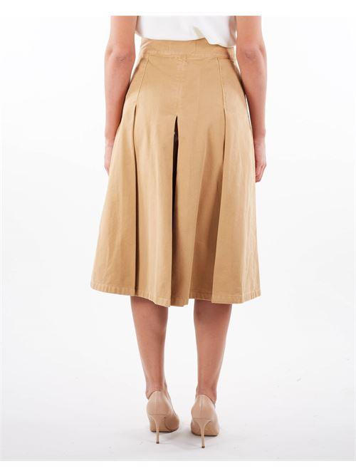 Gonna pantalone in denim con staffa oro Elisabetta Franchi ELISABETTA FRANCHI | Jeans | PJ09D16E2470