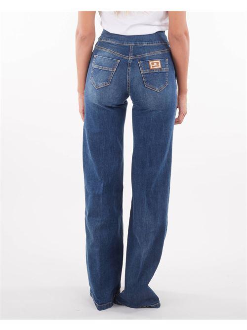 Jeans a vita alta con bottoni dorati Elisabetta Franchi ELISABETTA FRANCHI | Jeans | PJ14D16E2139