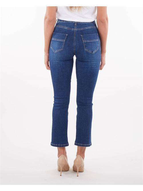 Jeans mini flare con staffa oro Elisabetta Franchi ELISABETTA FRANCHI | Jeans | PJ17S16E2139