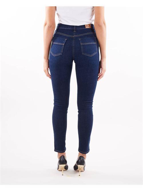 Jeans skinny con bottoni oro a vista Elisabetta Franchi ELISABETTA FRANCHI | Jeans | PJ20S16E2104
