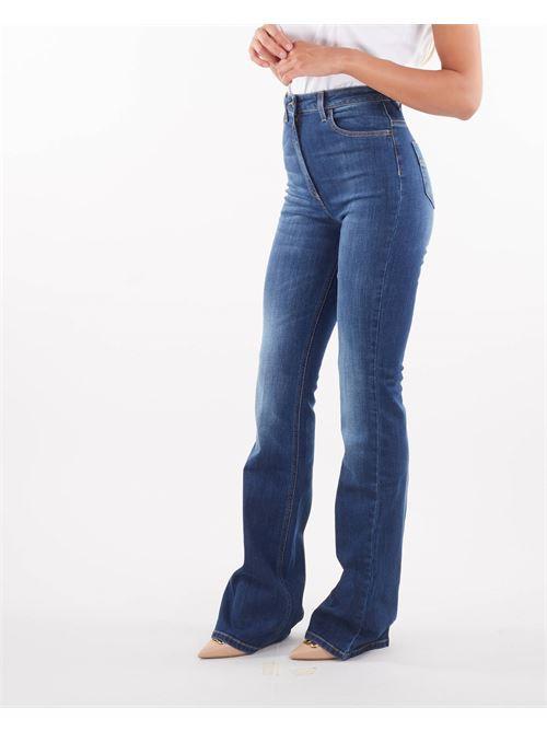 Jeans a zampa con srito piega Elisabetta Franchi ELISABETTA FRANCHI   Jeans   PJ22S16E2139