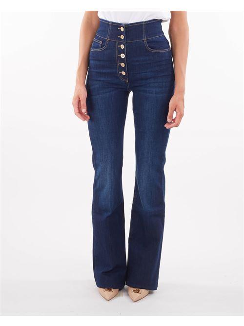 Jeans con abbottonatura alta light gold Elisabetta Franchi ELISABETTA FRANCHI   Jeans   PJ23S16E2139
